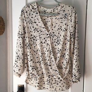 Lush blouse size M black and white long sleeve